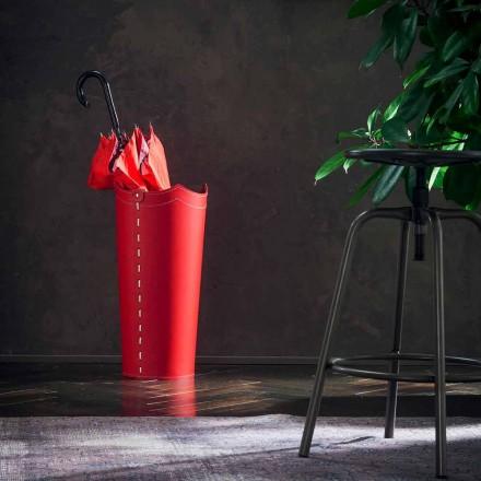 Paragüero de diseño en piel para sombrilla hogar u oficina