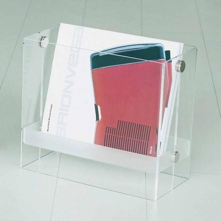 Revista de diseño moderno en metacrilato transparente Tanko