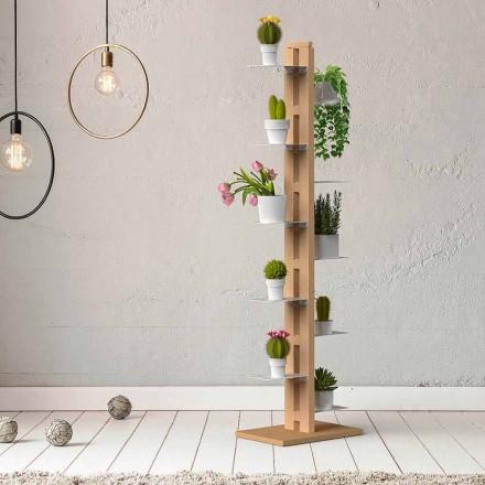 Jarrón moderno de columna Zia Flora hecho en Italia