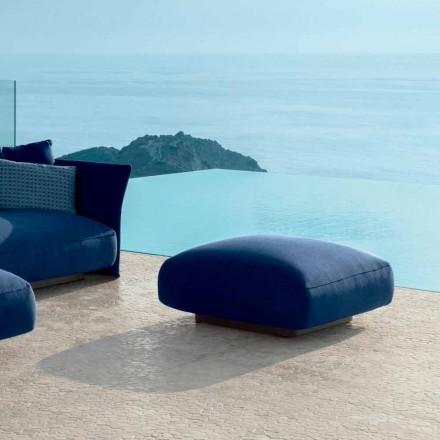 Cliff moderno puf al aire libre en tela de Talenti, diseñado por Palomba
