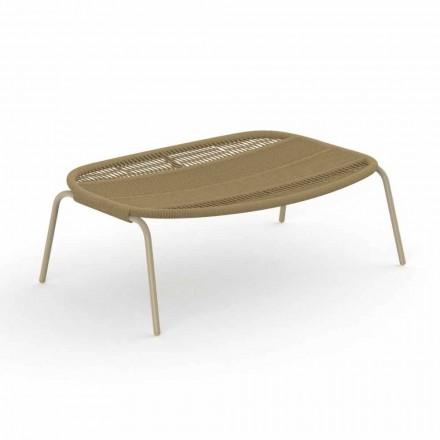 Puf de jardín de diseño moderno en aluminio y tela - Panama by Talenti