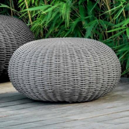 Puf medio y redondo Jackie by Talenti para exterior en cordón sintético