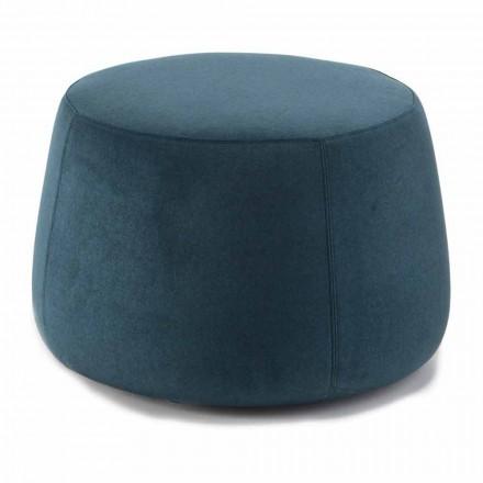 Puf redondo suave para salón en terciopelo de colores 3 dimensiones - Evelyne