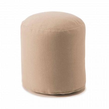 Puf redondo suave para sala de estar interior o exterior en tela de colores - Naemi