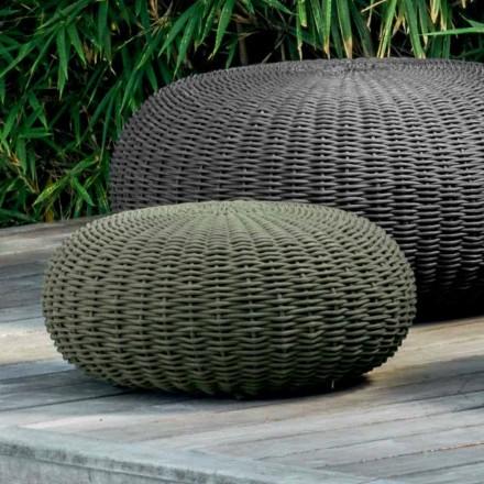 Puf pequeño y redondo Jackie by Talenti con diseño moderno para jardín