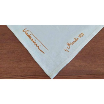 Agarraderas de arte italiano en lino puro con estampado a mano Pieza artesanal única