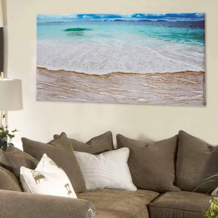 Cuadro de diseño moderno Beach de Viadurini Decor pintado a mano