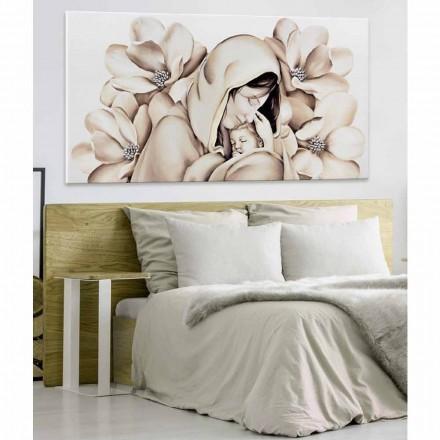 Panel de diseño moderno en relieve sobre lienzo fabricado en Italia Sole