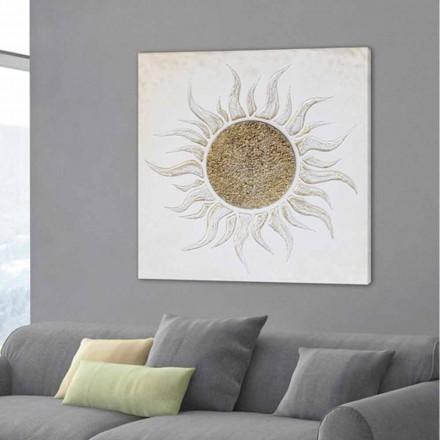 Marco para la sala de estar con decoraciones hechas a mano y estructura de marfil Luis