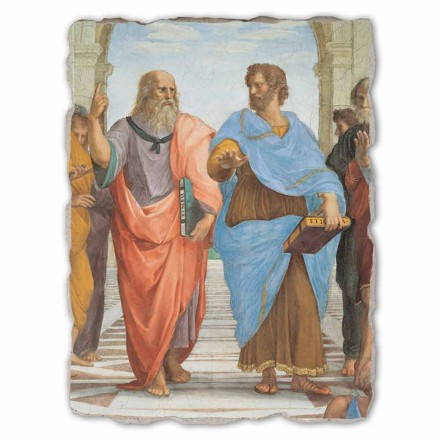 Raffaello Sanzio Escuela de Atenas frag Platón y Aristóteles