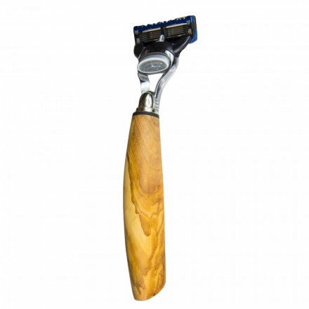 Navaja de afeitar hecha a mano en madera de olivo o cuerno Made in Italy - Rabio