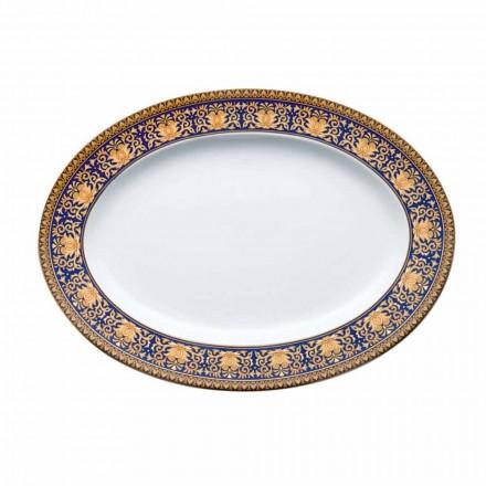 Rosenthal Versace Medusa óvalo azul plato de porcelana del diseño