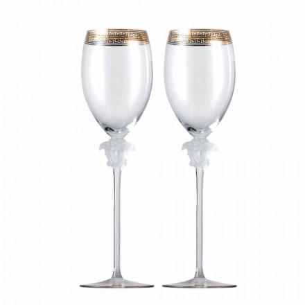 Rosenthal Versace Medusa D'Or 4 tazas vaso de vino blanco