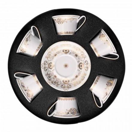 Rosenthal Versace Medusa Gala oro determinado de porcelana tazas de té 6 PC