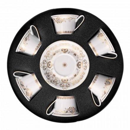 Té Rosenthal Versace Medusa Gala tazas de porcelana 6 piezas