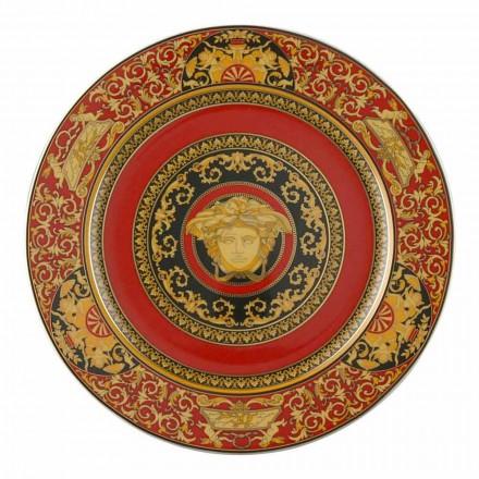 Rosenthal Versace Medusa placa roja marcador de posición 30 cm porcelana