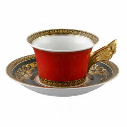 Rosenthal Versace Medusa rojo de la taza de té de porcelana diseño moderno