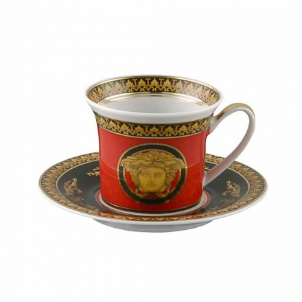 Rosenthal Versace Medusa Rojo Espresso porcelana diseño de copa