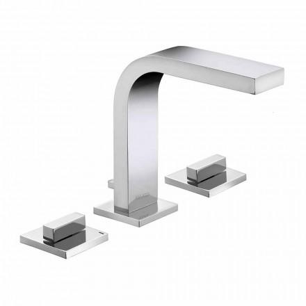Grifo para lavabo de baño de latón con 3 orificios de diseño de lujo - Etto