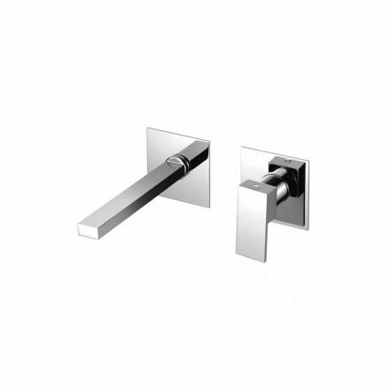 Grifo mezclador de pared para lavabo de baño moderno Made in Italy - Panela