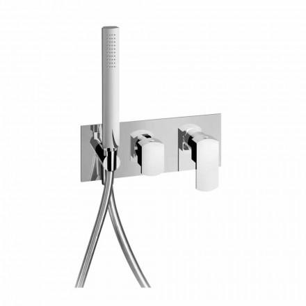 Grifo mezclador de ducha de diseño con desviador de 3 vías Made in Italy - Sika