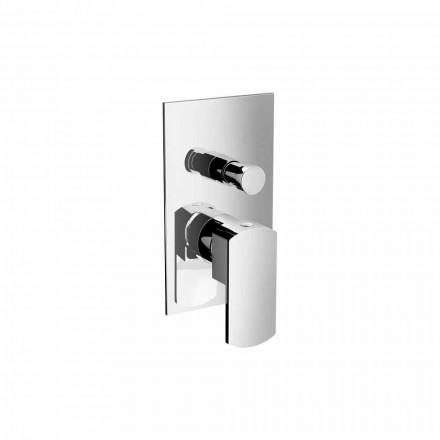 Grifo mezclador moderno para ducha o bañera con desviador Made in Italy - Sika