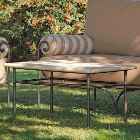 Salón de jardín artesanal con estructura de hierro Made in Italy - Lisotto