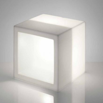 Estante luminoso de cubo Slide Open Cube de diseño moderno hecho en Italia