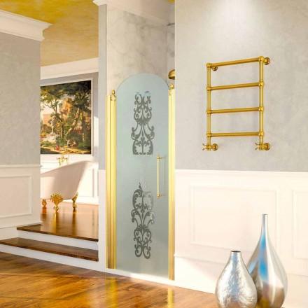 Calentador de fontanería Scirocco H Caterina Gold en latón, diseño