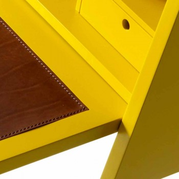 Escritorio de madera de múltiples capas de diseño Grilli Hemingway made Italy