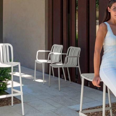 Silla de jardín Trocadero con brazos de Talenti, fabricada en aluminio