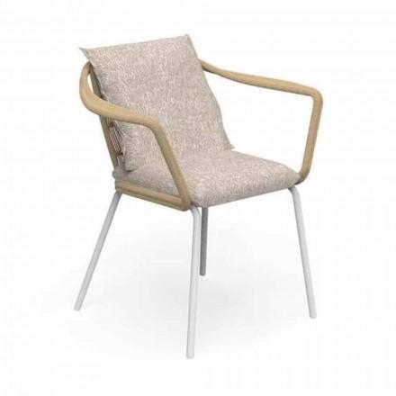 Silla de jardín de diseño moderno en aluminio y tela - Cruise Alu Talenti