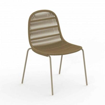 Silla de jardín de diseño moderno en aluminio y tela - Panama by Talenti