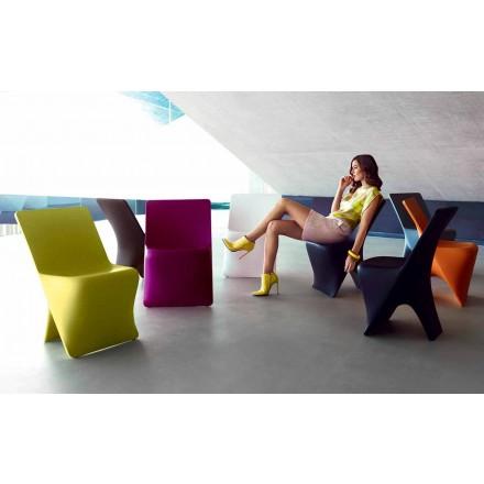 Silla de jardín Sloo by Vondom, diseño moderno en polietileno