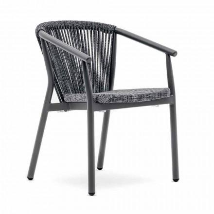 Silla de jardín apilable de aluminio y tela técnica - Smart By Varaschin