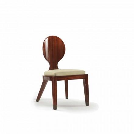 Silla de comedor tapizada de diseño en madera lisa, L51xP53cm, Nicole