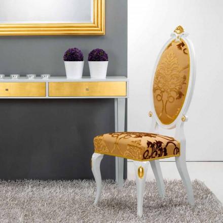 diseño clásico Silla de madera con decoración de hojas de oro Tristán