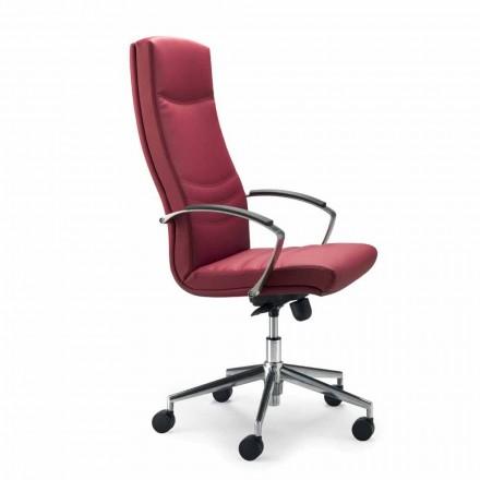 silla ejecutiva de cuero sintético oficinas monocasco Debora