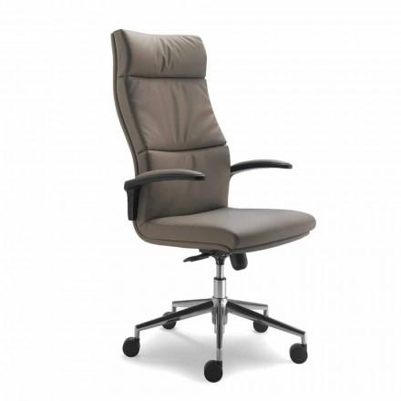 Direccional moderno tipo de flor silla de diseño genuina piel de vaca Edda