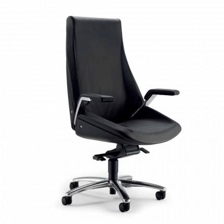silla ejecutiva en piel de vaca Ada Angelo Pinaffo y Gorgi
