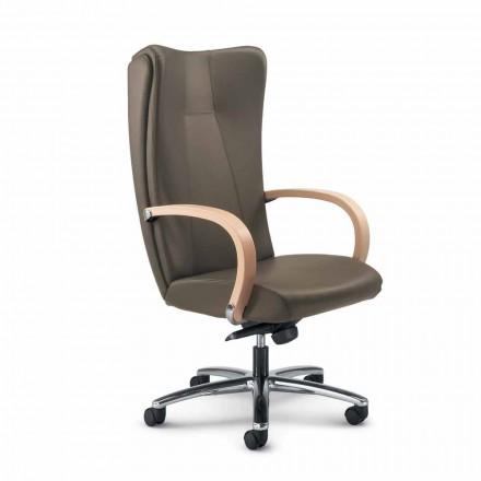 silla ejecutiva genuina piel de vaca Ambra moderno tipo de flor