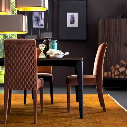 Silla de salón tapizada de madera maciza Grilli Zarafa hecha en Italia