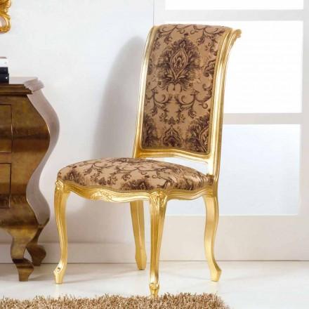 Silla de madera con estilo clásico con patas de pan de oro Bellini