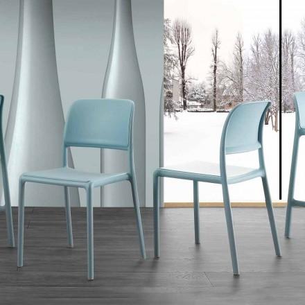Silla en resina y fibra de vidrio de moderno diseño Ravenna.