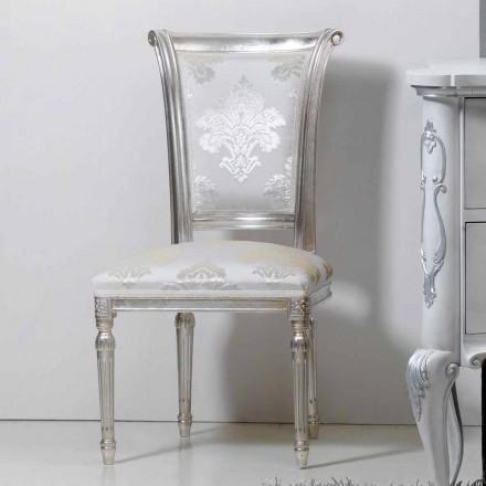 clásica silla de madera con patas de hoja de plata Miel