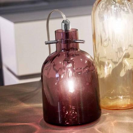 lámpara de mesa Selene Bossa Nova Ø11 H16cm, amatista vidrio soplado