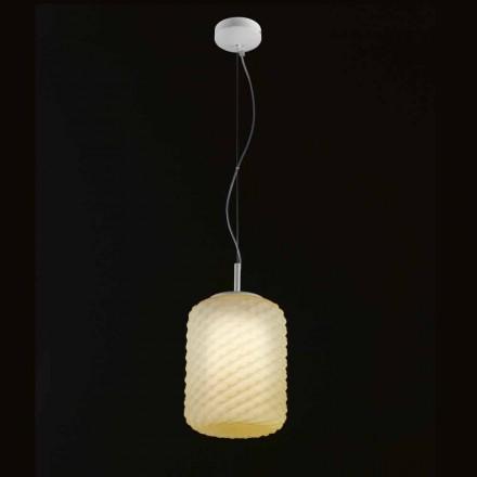 Lámpara de techo Selene Domino soplado Ø21 H 27/140 cm cristal