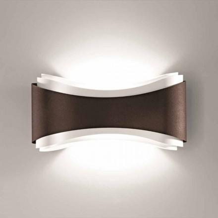 lámpara de pared Selene Ionic hecho en Italia, 40x12H20cm, acero y vidrio