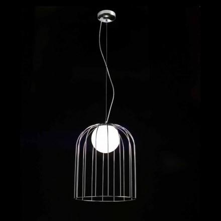 Lámpara de techo Selene Kluvì soplado Ø33 H 41/150 vidrio cm