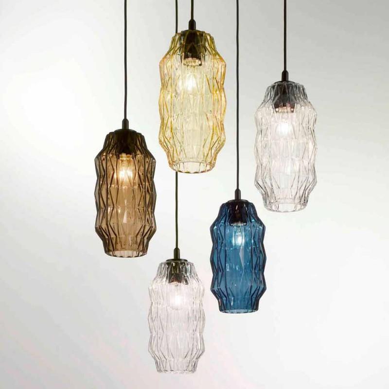 Selene Origami lámpara de techo de vidrio soplado Ø16 H 30 / 140cm